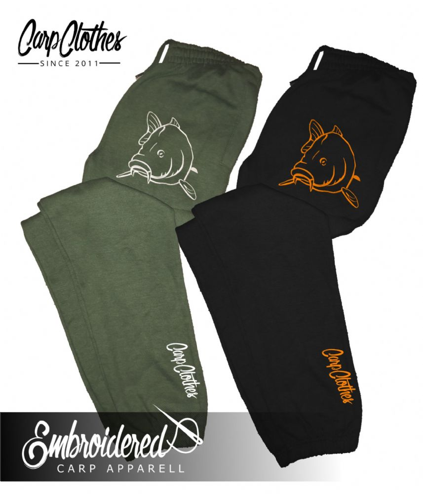 004 EMBROIDERED CARP JOGGERS